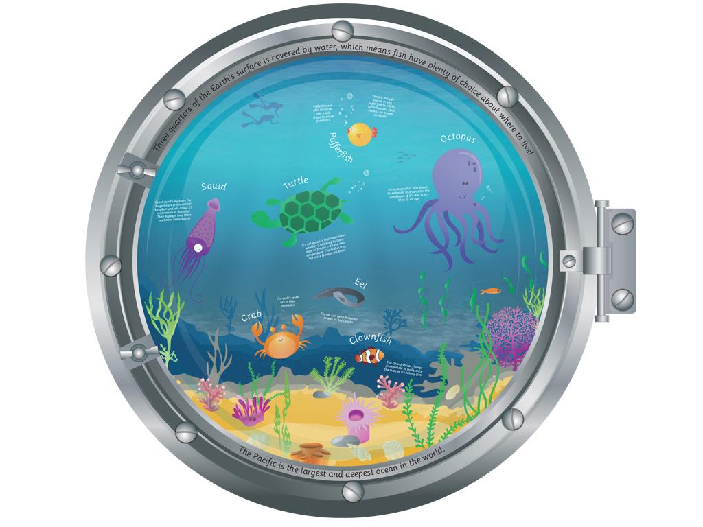 School Toilet Displays – Under The Sea – Two Thirds Design