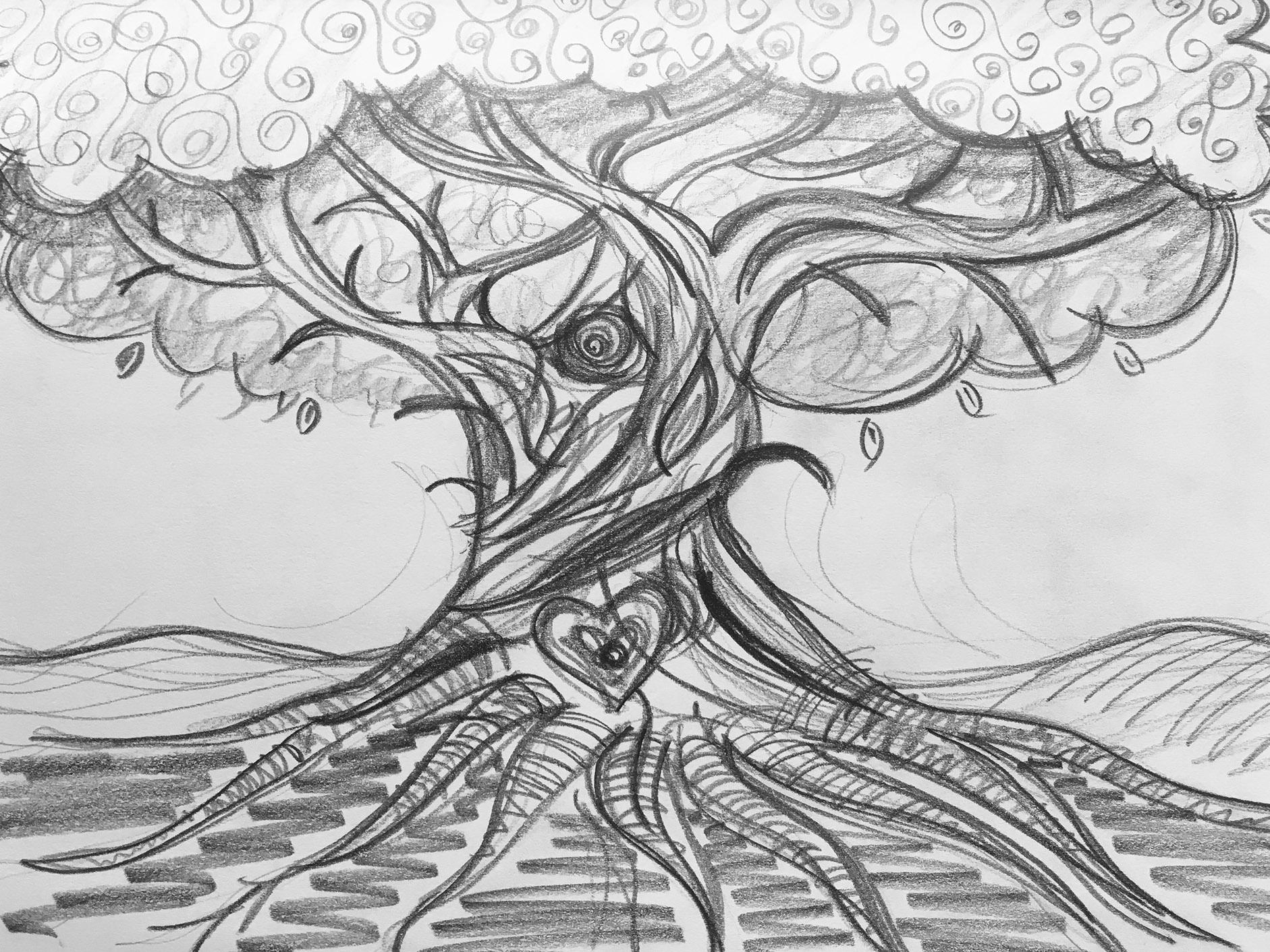 Values Tree Sketch Design Ideas
