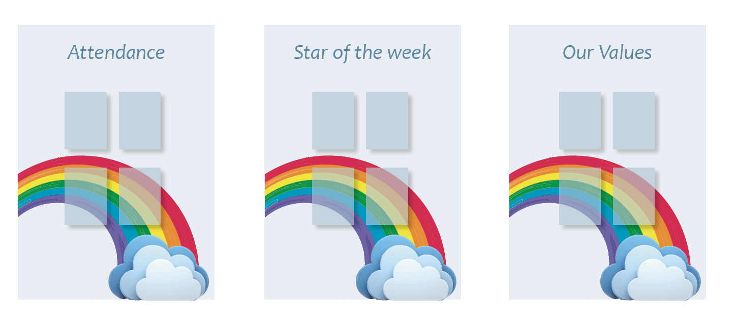 Noticeboards updatable star of the week