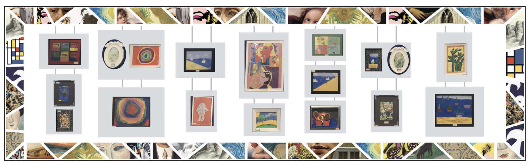 Updatable art gallery display