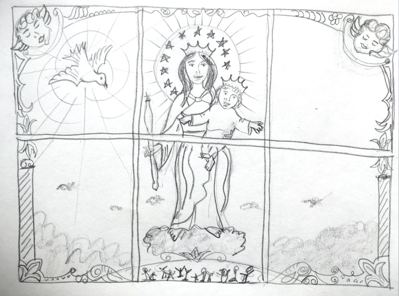 Faith Our Lady Window Vinyl