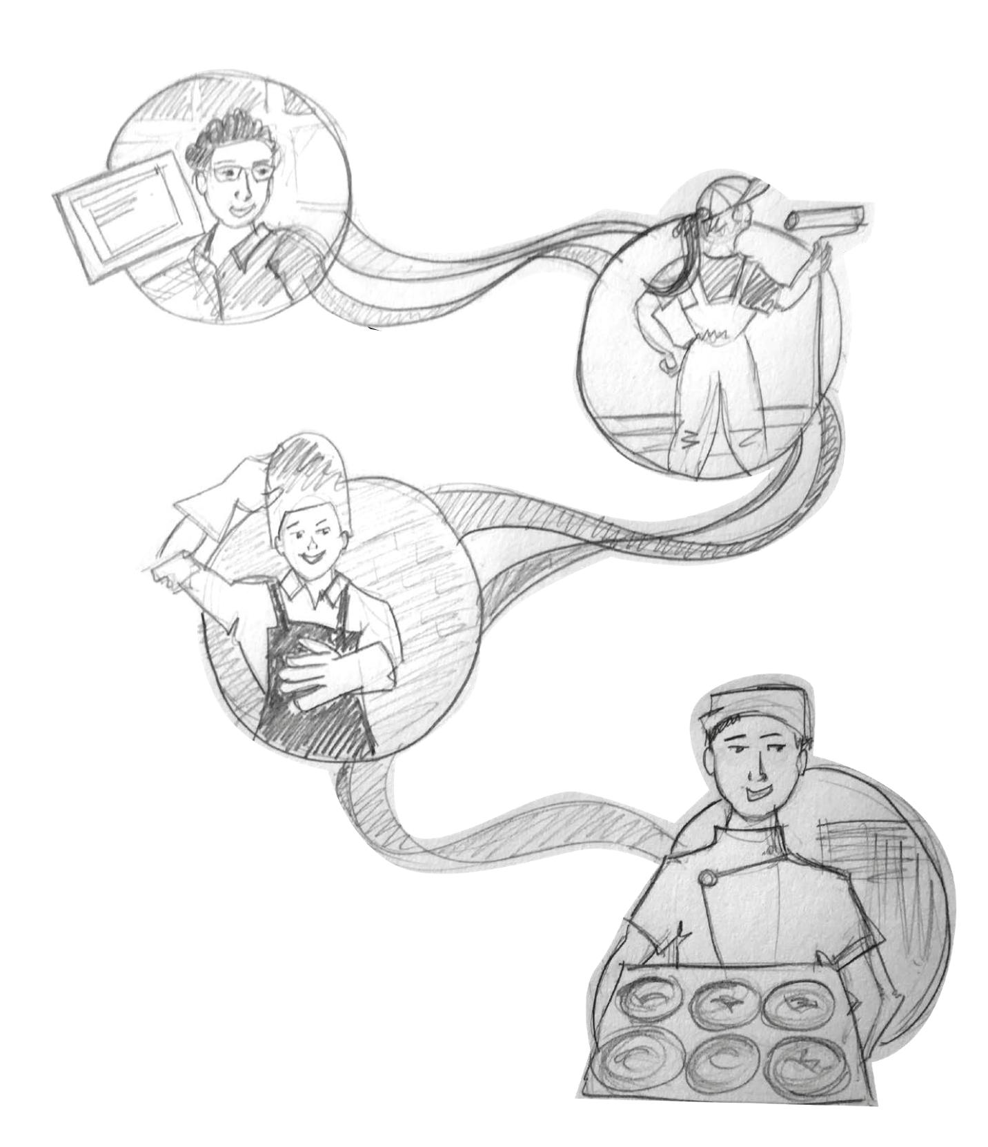 Careers Display Concept sketch
